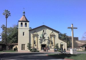 Santa Clara Mission Church, on the campus of Santa Clara University
