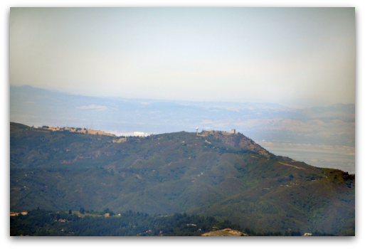 Mount Umunhum - aerial view from Santa Cruz side