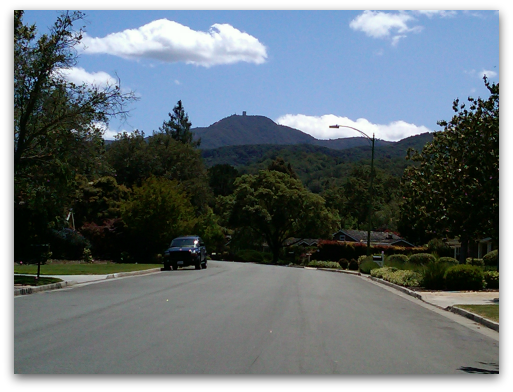 Mt Umunhum from the Country Club area of Almaden