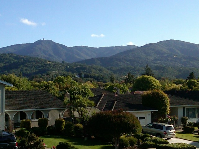 Allmaden Valley view from Nightfall Court Small - Slideshow of Silicon Valley neighborhoods