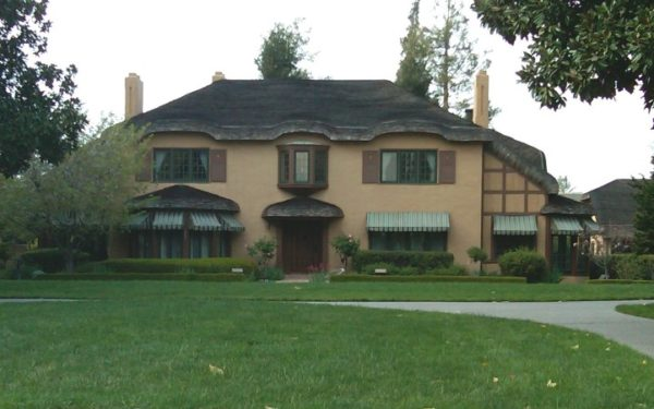 Image of a tudor style home, the Ainsley House in Campbell, which can be toured