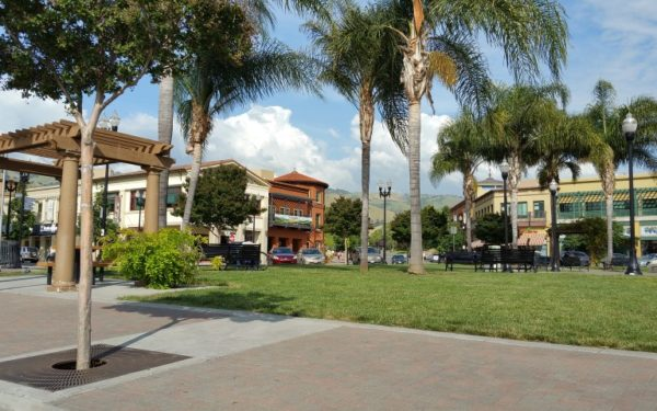 Image of Evergreen Village Square, a younger shopping center