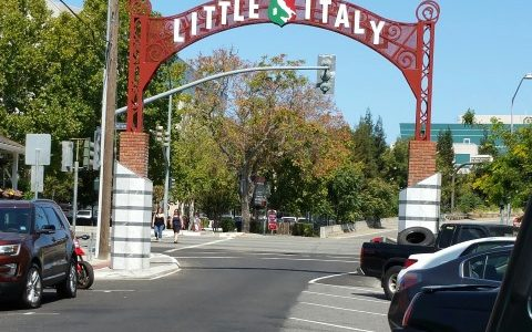 Little Italy archway into the district