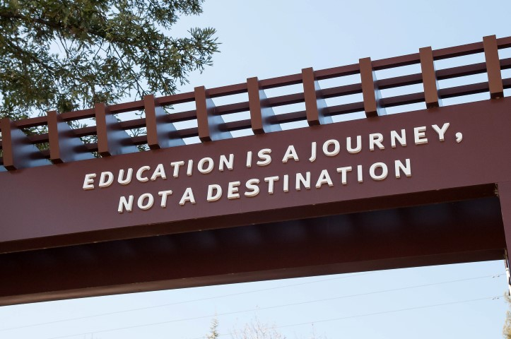 Saratoga West Valley College Education is a journey Small - Slideshow of Silicon Valley neighborhoods