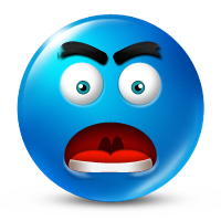 Angry faced icon