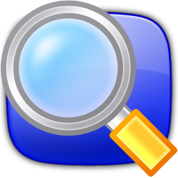 Graphic image of a magnifier