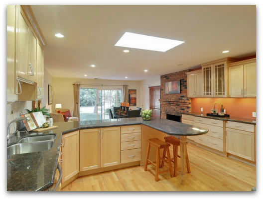 920 Hazelwood Av Campbell remodeled kitchen with skylight