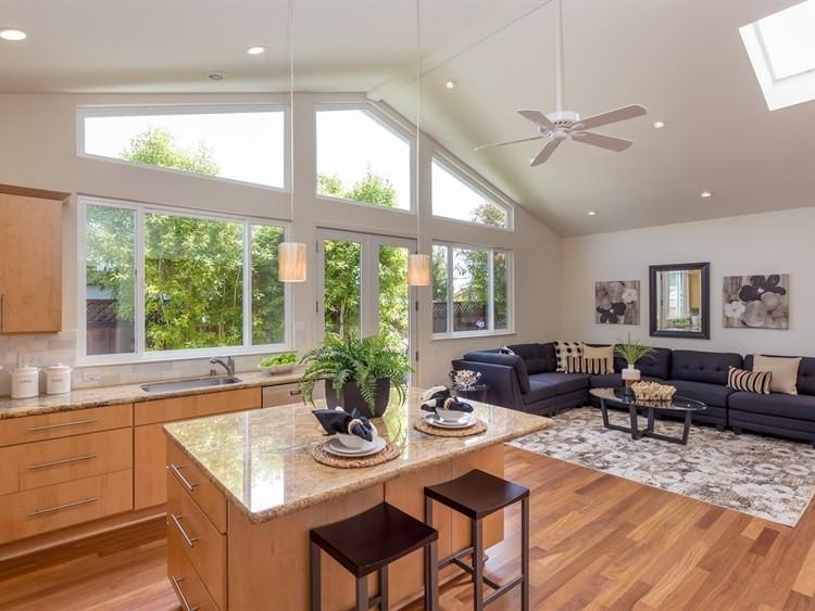 Kitchen & Family 1Kitchen and family room -1190 Crestline Drive, Cupertino