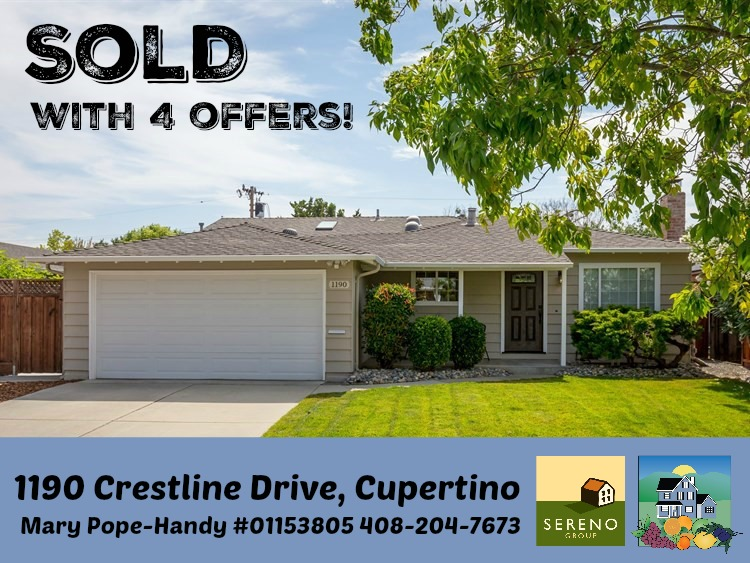 1190 Crestline Dr. Sold with 4 offers